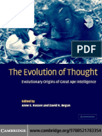 251644563 the Evolution of Thought Evolutionary Origins of Great Ape Intelligence