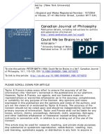 Could We be Brains in a Vat? PETER SMITH - Canadian Journal of Philosophy.pdf