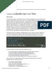 Tocar à Campainha Aqui e Na China