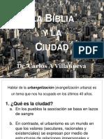 Villanueva- Biblia y Ciudad