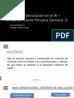 2018 1 17 Derecho Tributario II UC Distancia Sem. 2 Vinculación Domicilio Rentas de Fuente Peruana