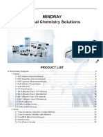 Biochemistry Handbook for Mindray