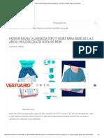 Molde t Shirt Talla 2 Bebes de 1 y 2 Anos Explicación