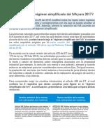 Cómo Quedó El Régimen Simplificado Del IVA Para 2017 (Régimen Simplificado IVA)