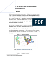 Caracteristica Del Distrito y Sus Centros Poblados