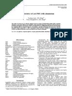 Characteristics of cast PBX with aluminium