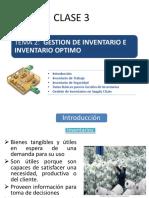Tema 2 - Gestion de Inventario e Inventario Optimo