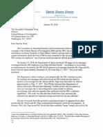 Senator Ron Johnson Letter to FBI Director Christopher Wray