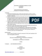 Law No 30 2009 English Version