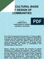 Socio-cultural Basis of Design of Communities