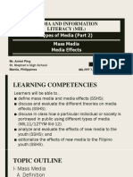 3.MIL 4. Types of Media Part 2 Mass Media and Media Effects