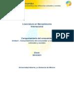 Unidad 1. Comportamiento Del Consumidor y Sus Influencias Culturales y Sociales