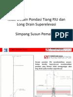 Pondasi PJU Terkena Long Drain Super Elevasi