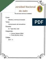 Contaminación Del Aire en La Ciudad de Jaén