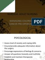 Colon Cancer Management