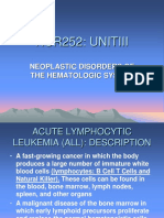 Neoplastic Disorders of the Hematologic System NUR252