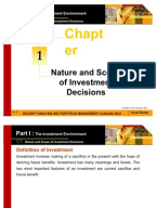 nature scope of investment analysis View introduction handout (week 1) from business a 022 at jomo kenyatta university of agriculture and technology nature and scope of investment and portfolio.