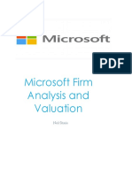 Microsoft Financial Statement Analysis