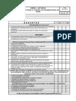 CheckList  NR 32 Segurança e Saúde no Trabalho em Estabelecimentos de Saúde.doc