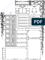 Forest Character Sheet - Blank