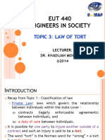 2 Eut440 Law 3 Law of Tort