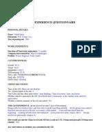 VISHAL HARIA GD Pi Questionnaire