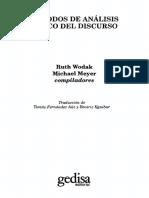 32. Wodak Ruth Y Meyer Michael - Metodos de Analisis Critico Del Discurso