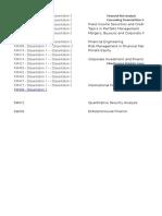 Courses Codes&Names