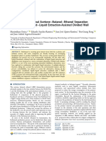 Multiobjective Optimal Acetone−Butanol−Ethanol Separation Systems Using Liquid−Liquid Extraction-Assisted Divided Wall Columns