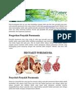 Apa Penyebab Dari Penyakit Paru Paru Basah Atau Pneumonia