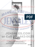 Deutz Allis d6806 Tractor Parts Manual