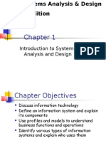 Systems Analysis and Design Chapter 01