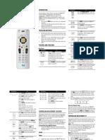 Sat Go Universal Remote Control User Guide