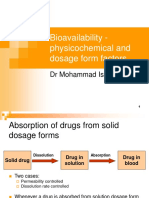 03_Bioavailability - Physicochemical and Dosage Form Factors
