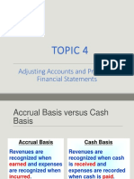 topic 4 - adjusting accounts and preparing financial statements