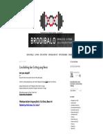 Brodibalo Fitness_ Cara Bulking Dan Cutting Yang Benar