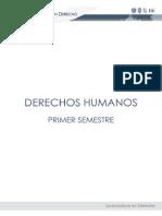 Derechos Humanos primer semestre Lic. en Derecho UNAM