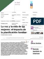 La Voz y La Vida de Las Mujeres_ El Impacto de La Planificación Familiar