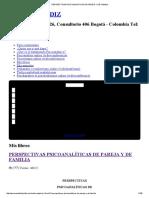 Perspectivas Psicoanalìticas de Pareja y de Familia