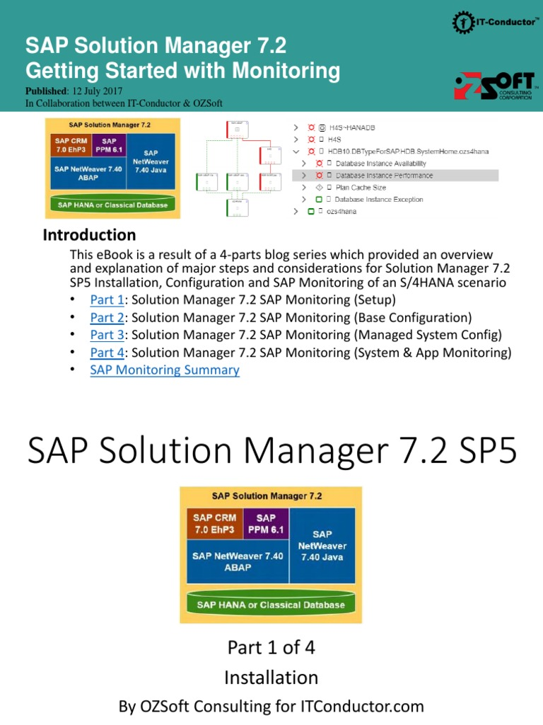 SAP Solution Manager 7 2 System Monitoring | Installation