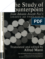 Study of CounterPoint (de Fux)