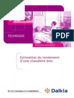Estimation Rendement Chaudière Bois