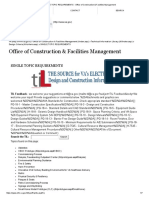 SINGLE TOPIC REQUIREMENTS - Office of Construction & Facilities Management