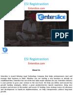 ESI Registrastion