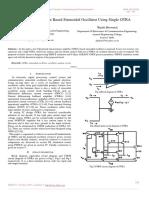 Minimum Component Based Sinusoidal Oscillator Using Single OTRA