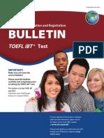 TOEFL Ibt Bulletin 2017-18