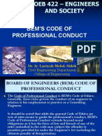 Lecture 5-3 Codes of Professional Conducts