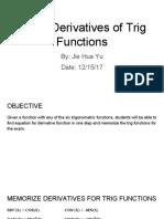 derivative of trig function - jie hua yu