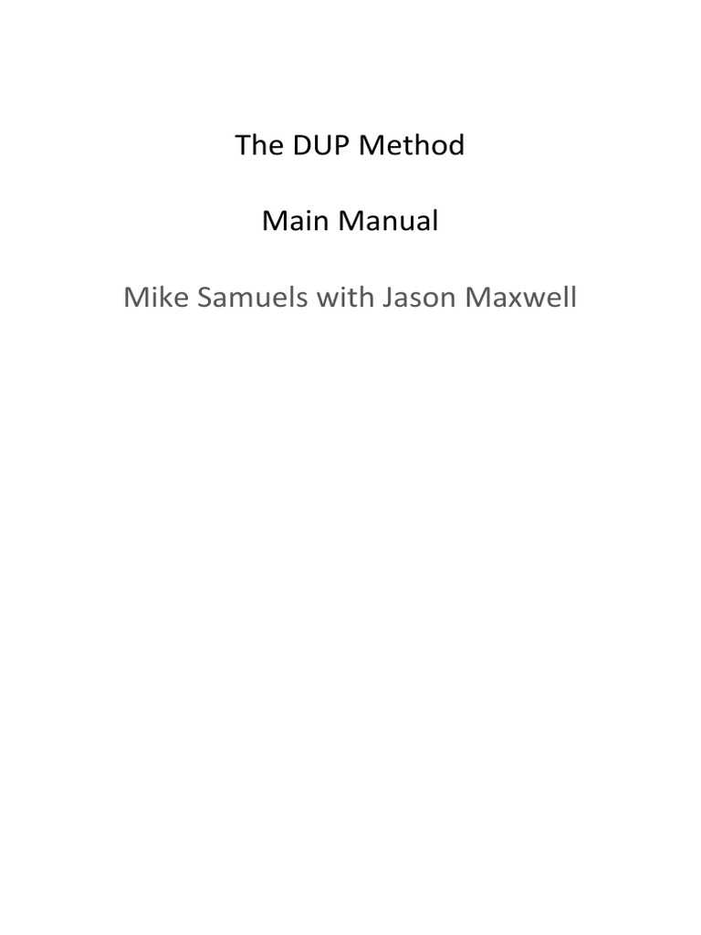 The Dup Method Muscle Hypertrophy Strength Training