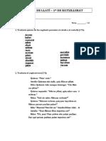 Examen de recuperación de latín– 1º bachill.